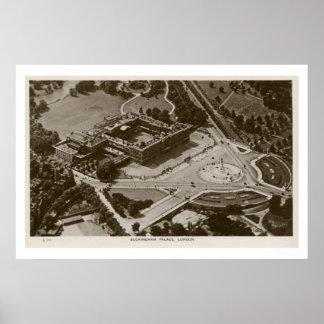 Unusual view Buckingham Palace vintage photo Print