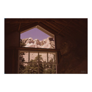 Unusual View of Mount Rushmore South Dakota 1959 Posters