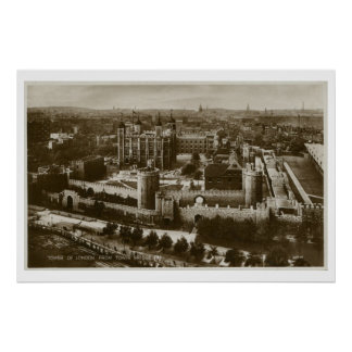 Unusual view Tower of London vintage photo Poster