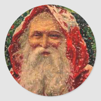 Unusual Vintage Image Santa Claus Stickers