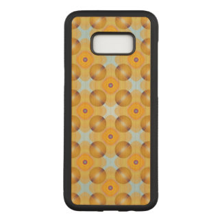 Unusual  Yellow Geometric Carved Samsung Galaxy S8+ Case