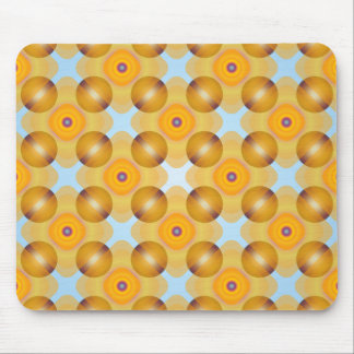 Unusual  Yellow Geometric Mouse Pad