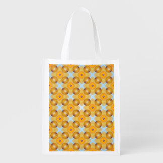 Unusual  Yellow Geometric Reusable Grocery Bag