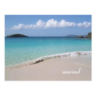 unwind postcard
