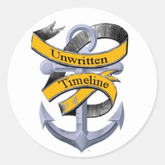 Unwritten Timeline Round Sticker