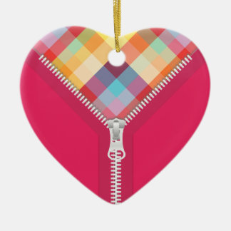 Unzipped Heart of Colors ornament