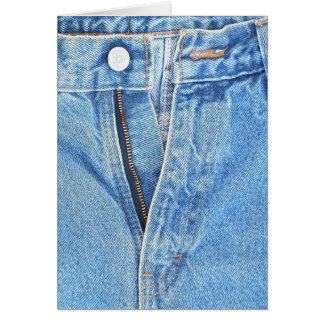 unzipped jeans greeting card