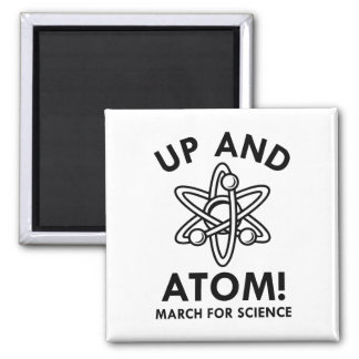 Up And Atom! Square Magnet