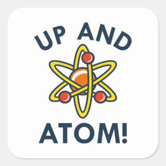 Up And Atom! Square Sticker
