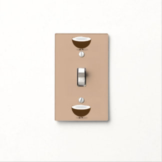 Up and Down Smiling Coconuts Light Switch Cover
