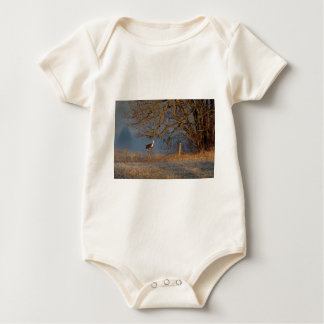 Up And Over, Whitetail deer Baby Bodysuit