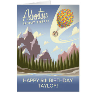 UP Birthday | Adventure is Out There Card