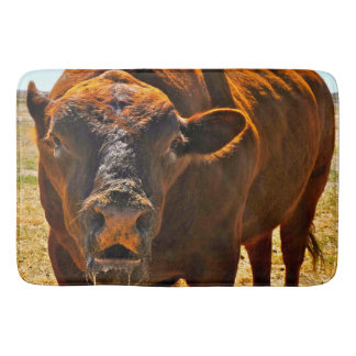 Up Close and Personal Bull Bathmat