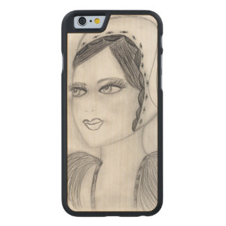 Up Close Flapper Carved® Maple iPhone 6 Slim Case