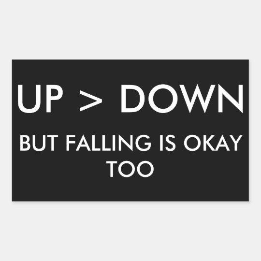 Up > Down Sticker