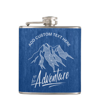 Up For Adventure Mountains ID358 Hip Flask
