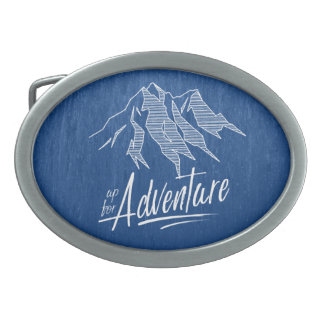 Up For Adventure Mountains ID358 Oval Belt Buckle