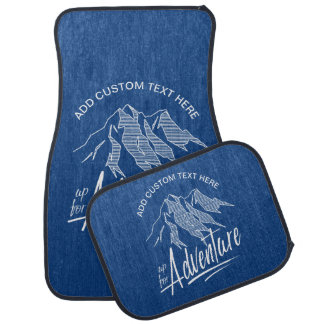 Up For Adventure Mountains White ID358 Car Mat