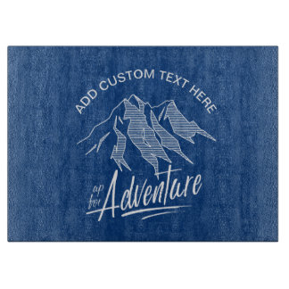 Up For Adventure Mountains White ID358 Cutting Board