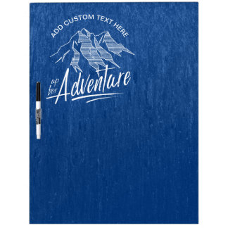 Up For Adventure Mountains White ID358 Dry Erase Board