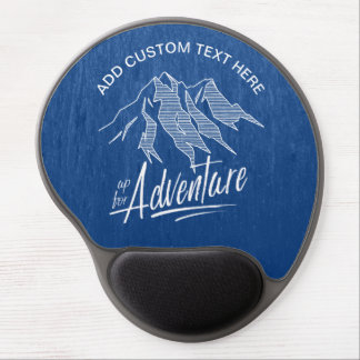 Up For Adventure Mountains White ID358 Gel Mouse Pad