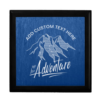 Up For Adventure Mountains White ID358 Gift Box