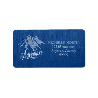 Up For Adventure Mountains White ID358 Label