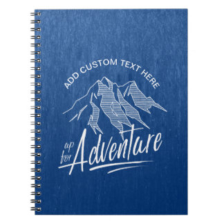 Up For Adventure Mountains White ID358 Notebooks