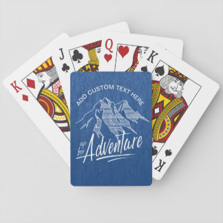 Up For Adventure Mountains White ID358 Playing Cards