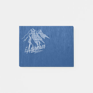 Up For Adventure Mountains White ID358 Post-it Notes
