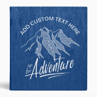 Up For Adventure Mountains White ID358 Vinyl Binders