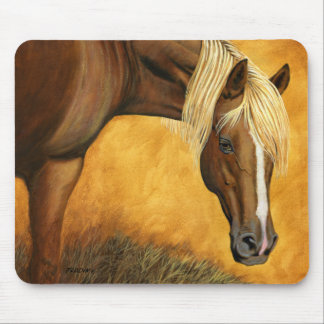 """Up For Auction"" Quarter Horse - Mouse Pad"