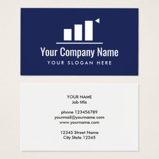 Up going graph company logo business card template