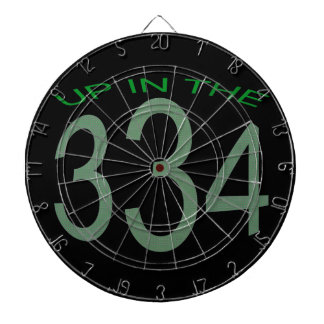 UP IN 334 (GREEN) DARTBOARD