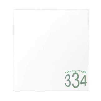 UP IN 334 (GREEN) NOTEPAD