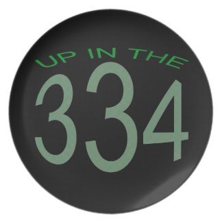 UP IN 334 (GREEN) PLATE