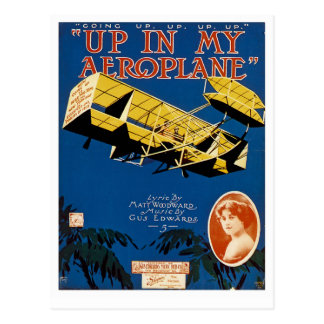 Up in My Aeroplane Postcard