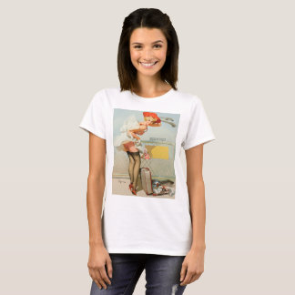 Up in the air vintage pinup girl T-Shirt