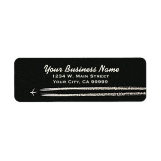 Up in the Sky/High Altitude Airplane Contrail Return Address Label