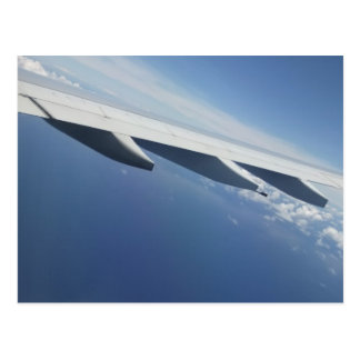 Up in the Sky/Window Seat Airplane Wing Postcard