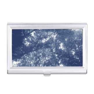 Up in the Trees - Cyanotype Effect Business Card Holder