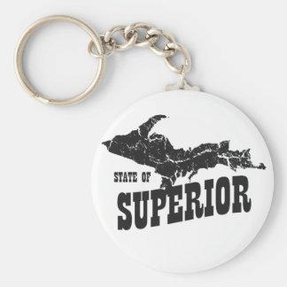 UP Michigan State of Superior Yooper Keychain