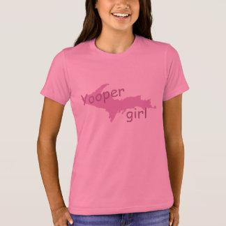 UP Michigan Yooper Girl Girls Pink T-shirt