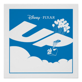 UP Movie Logo - Flat color - Disney Pixar Poster
