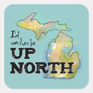 Up North Michigan Colourful Illustration Sticker