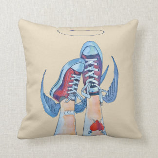 up or down?! throw pillow