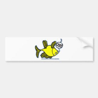 Up Side Down Fish! Bumper Sticker