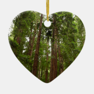 Up to Redwoods at Muir Woods National Monument Ceramic Heart Ornament