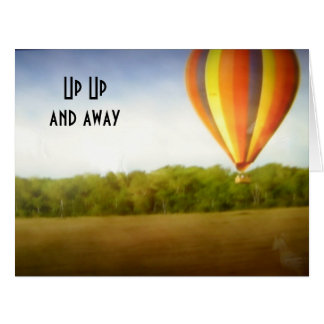 UP UP AND AWAY=40th BIRTHDAY Card