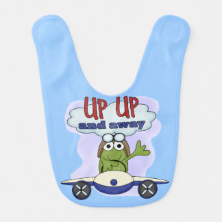 Up Up and Away Frog Airplane Bib